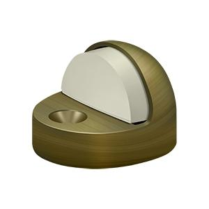 Dome Stop High Profile, Solid Brass - Antique Brass