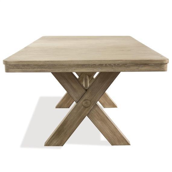 Riverside - Sophie - Trestle Dining Table Top - Natural Finish