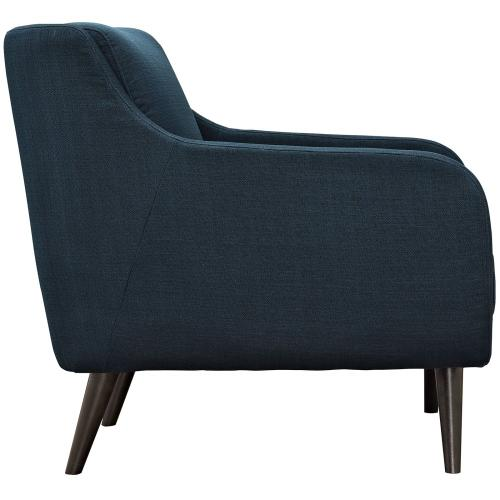 Verve Upholstered Fabric Armchair in Azure