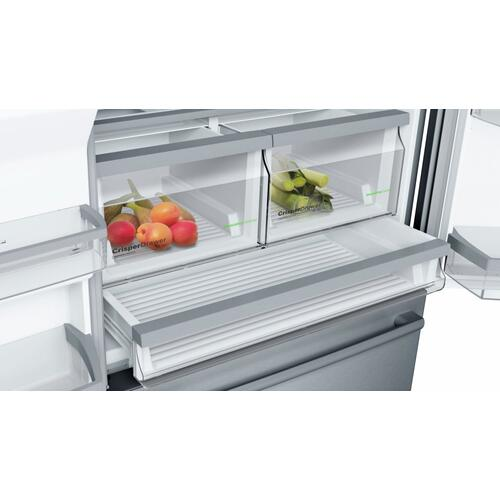 800 Series French Door Bottom Mount 36'' Stainless steel, Easy Clean Stainless Steel B26FT50SNS