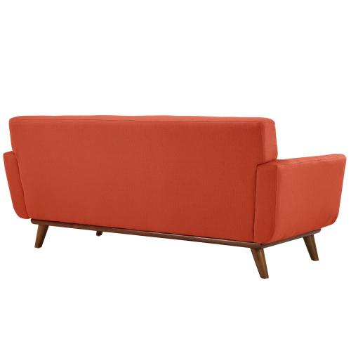 Modway - Engage Loveseat and Sofa Set of 2 in Atomic Red