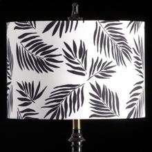 BLACK PALM MIXOLOGY SHADE  MEDIUM  11in X 16in  Available in three sizes this lighting collectio