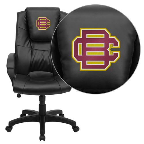Bethune-Cookman University Wildcats Embroidered Black Leather Executive Office Chair