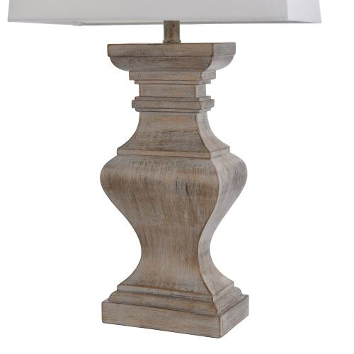 BAFFO GOLD  16.5in w X 34in ht X 9.5in d  Square Candlestick Moulded Table Lamp  100 watts