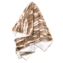 PIMA THROW- CREAM TAN  Faux Fur