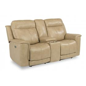 Miller Power Reclining Loveseat with Console & Power Headrests & Lumbar