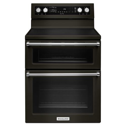 30-Inch 5 elements Electric Double Oven Convection Range - Black Stainless Steel with PrintShield™ Finish
