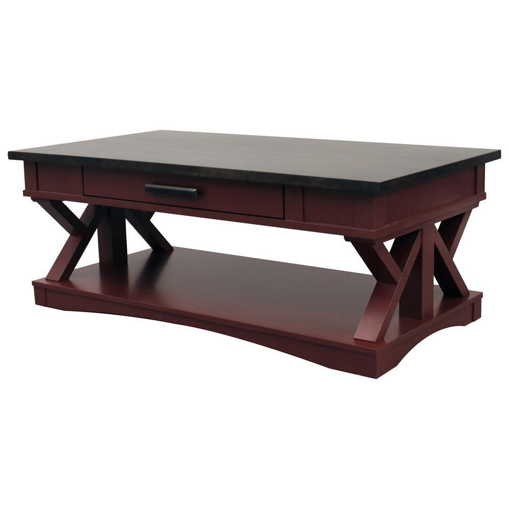AMERICANA MODERN - CRANBERRY Cocktail Table