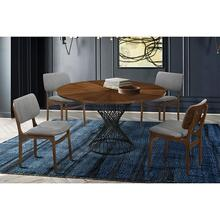 Cirque Lima 5 Piece Walnut Dining Set