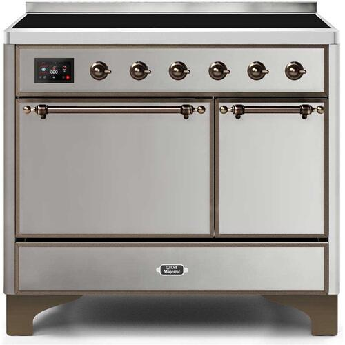 Majestic II 40 Inch Electric Freestanding Range in Stainless Steel with Bronze Trim