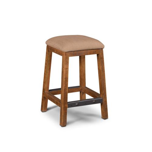 Backless Stool Upholstered - Rustic Collection