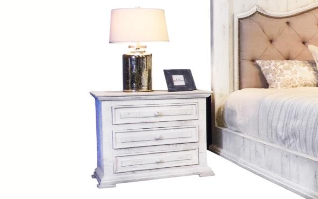 Factory 7 3-Drawer Nightstand