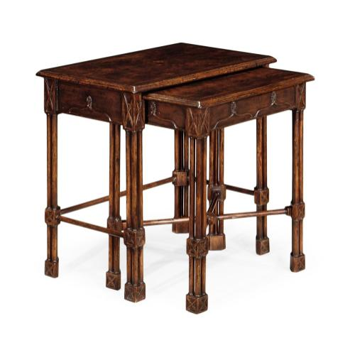 Chippendale gothic style nesting tables