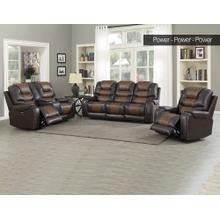 Steve Silver Park Avenue Brown Pwr-Pwr-Pwr 3PC Reclining Sofa, Loveseat & Recliner
