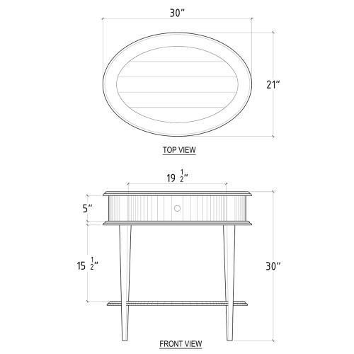 Art Nouveau Oval Table