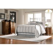 Queen Metal Bed, Chrome