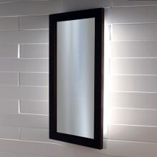 See Details - Wall-mount mirror in metal or wooden frame with LED lights.