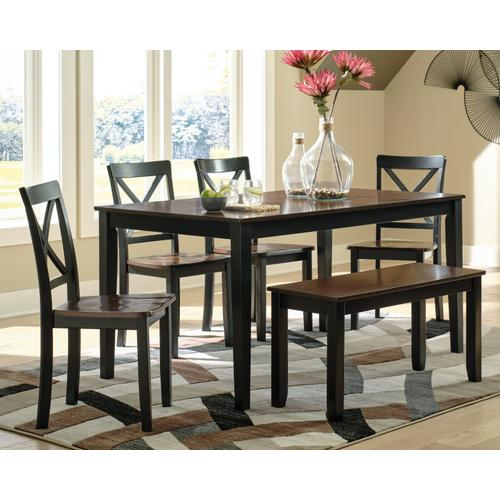 Signature Design By Ashley - Larsondale Dining Table and Chairs With Bench (set of 6)