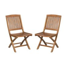 Teak Folding Game Chair (Set of 2)