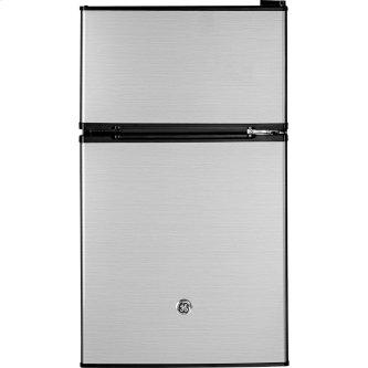 GE 3.1 Cu. Ft. Double Door Compact Refrigerator Stainless Steel GDE03GLKLB