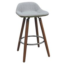 Camaro II 26'' Counter Stool, set of 2 in Grey/Walnut Legs