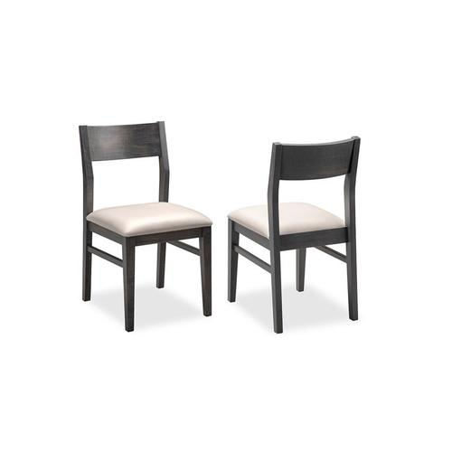 - Kanata Side Chair With Leather Seat