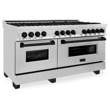 """See Details - ZLINE Autograph Edition 60"""" 7.4 cu. ft. Dual Fuel Range with Gas Stove and Electric Oven in Stainless Steel with Accents (RAZ-60) [Color: Champagne Bronze]"""