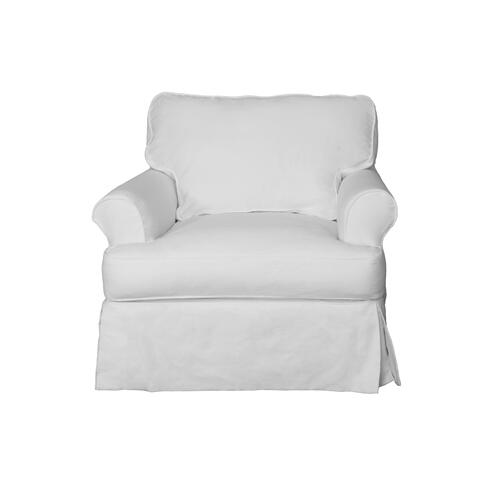 Horizon Slipcovered Chair and Ottoman - 391081
