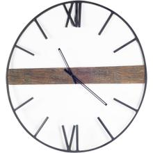 """See Details - Roman 36"""" Round Oversize Industrial Wall Clock"""