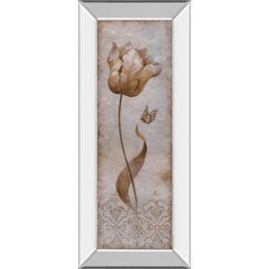 """Tulip & Butterfly I"" By Nan Mirror Framed Print Wall Art"