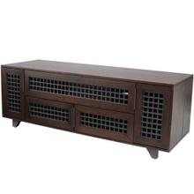 """See Details - Walnut AV Stand For TVs up to 70"""" and 100 lbs / 45 kg"""