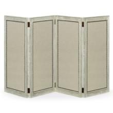 Light Grey Oak Screen, Upholstered in COM