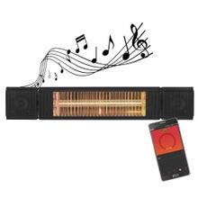 View Product - Original SUNHEAT and Beat Electric Wall or Tripod Mounted Patio Heater with Remote - Black