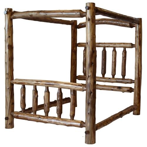 Canopy Bed - King - Vintage Cedar
