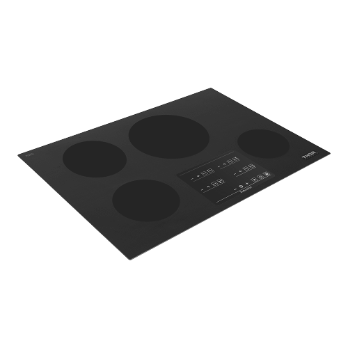 30 Inch Induction Cooktop In Black Glass With 4 Elements