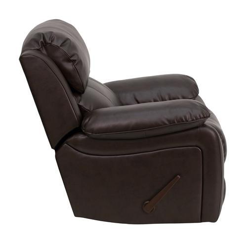 Flash Furniture - Brown LeatherSoft Rocker Recliner