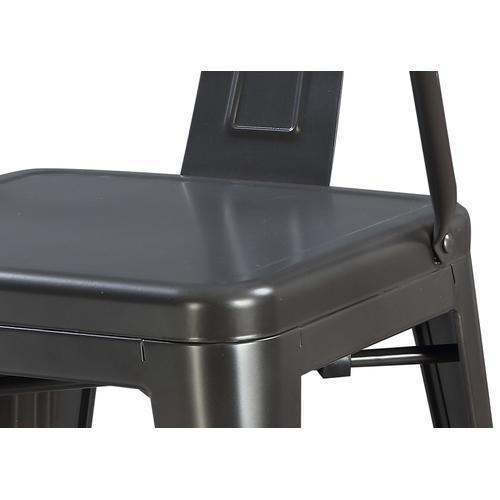 "Dakota III 24"" Bar Height Arm Chair, Gunmetal Gray D131-24"