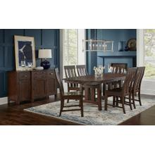 See Details - Henderson Trestle Dining Table and 4 Chairs
