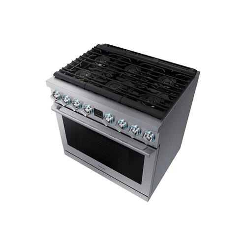 "5.9 cu. ft. 36"" Chef Collection Professional Gas Range in Stainless Steel"