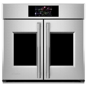 """MonogramMonogram 30"""" Smart French-Door Electric Convection Single Wall Oven Statement Collection"""