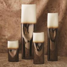 Pinch Vase-Bronze and Cream-XLg