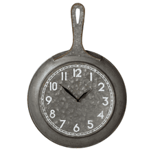 Galvanized Frying Pan Wall Clock