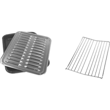 See Details - Premium Broil Pan & Roasting Rack