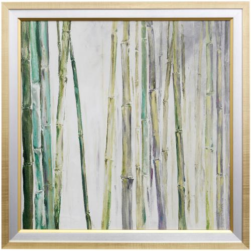 Style Craft - BAMBOO II  35 X 35  Made in USA  Textured Framed Print