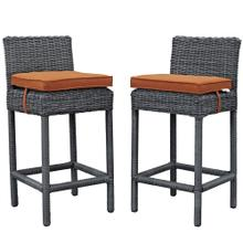 Summon 2 Piece Outdoor Patio Sunbrella® Pub Set in Canvas Tuscan