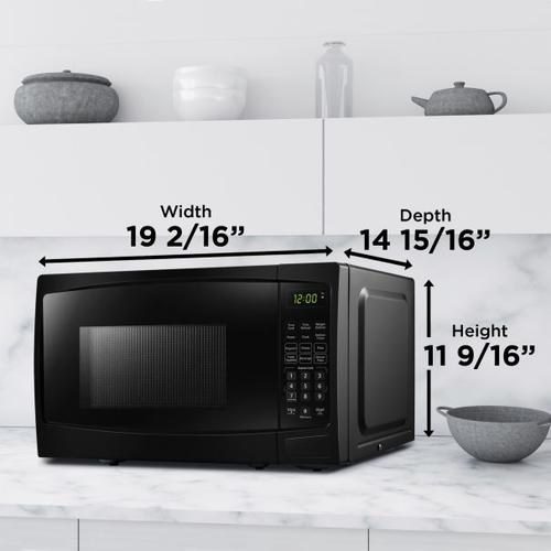 Danby - Danby 0.9 cu ft. Black Microwave with Convenience Cooking Controls