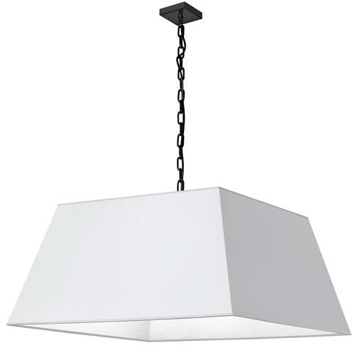1lt Milano X-large Pendant, Wht Shade, Blk