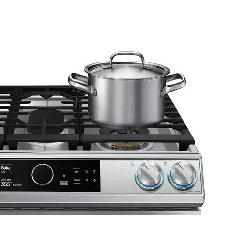 6.3 cu. ft. Flex Duo™ Front Control Slide-in Dual Fuel Range with Smart Dial , Air Fry & Wi-Fi in Stainless Steel