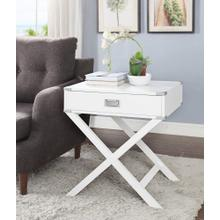 7082 WHITE X-Base End Table