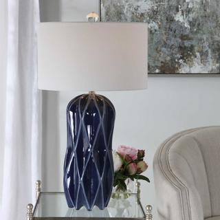See Details - Malena Blue Table Lamp